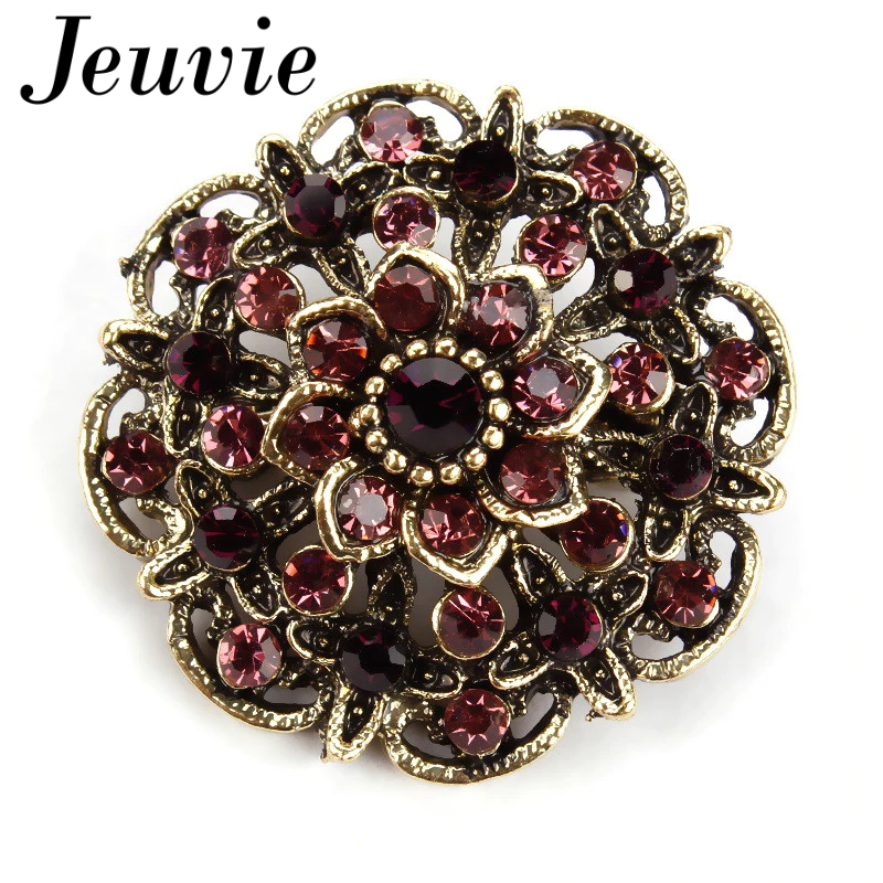 Retro Crystal Brooch