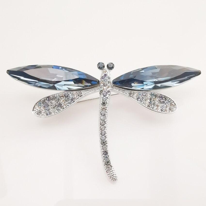 HUDIESHUO Austria Crystal & Czech Rhinestone Brooch Elegant Butterfly Design For Women High Fashion Gift Trendy Jewelry