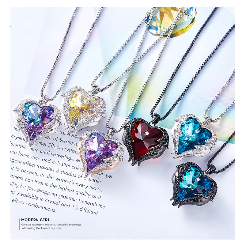 Crystal Angel Wings Necklace