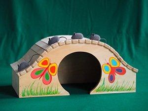 Maisonnette-jeu-niche professionnelle indoor pour chats Mini Papillon taille XL, Blitzen Original Made in Italy 100%