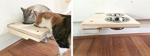 Catastrophicreations Cat Mod Feeder–fabriqué à la main surélevé mural Feeder étagère