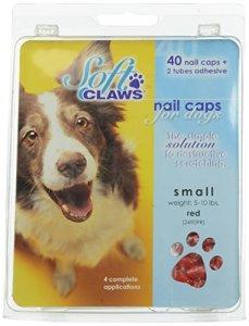 Canine doux griffes Chien et Chat Nail Caps prendre Home Kit, Petit, Rouge