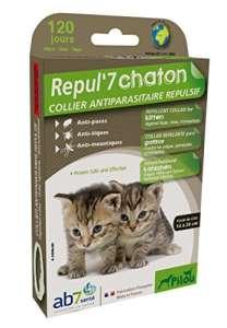 PILOU Collier Antiparasitaire Répulsif Chaton pour Chat Vert
