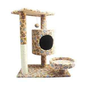 NIKINA Maison à Chat Confortable Douce Durable Robuste en Bois Mauvais Cadre griffoir Arbre à Chat Tour Escalade Animaux