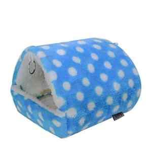 housesweet Pet Supplies Hamster Chinchilla Animal Doux Lit Motif de Points pour Animal Domestique d'hiver à Suspendre Maison