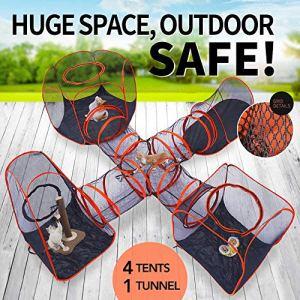 YILAITE 5 Ensembles de tentes pour Animaux domestiques, tentes carrées, Tunnels croisés, tentes hexagonales, Tunnels triangulaires et tentes ovales.