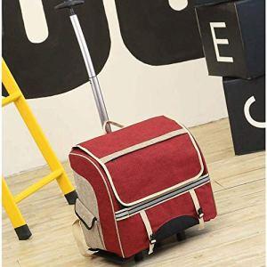 TYT Voyager Petit Pet Trolley Case Chien Tirer sur Portable Trolley Sac À Bandoulière Valise pour Animaux (Couleur : 2)