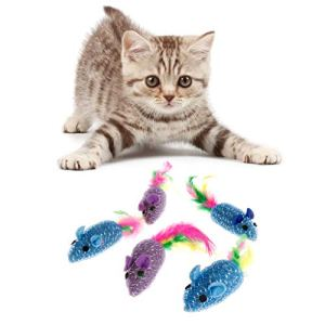 chenguld 5pcs Jouets pour Chat, Chat Souris Jouets pour l'intérieur Cats-Kitten Interactive
