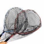 Fesjoy Filet de pêche avec Longe de pêche Filet de débarquement de Poisson avec poignée télescopique pour la libération du Poisson
