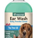 NaturVet EAR WASH Tea Tree Oil with Aloe Cleans Ear Canal For Dogs Cats 8 oz