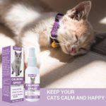 Spray Calmant pour Chat,Anti-Stress pour Chat,Spray Apaisant à Base de Plantes, Comfort Zone Spray and Scratch Control Calming Spray for Cats
