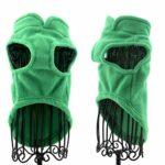 PAWSFECT Polaire Automne Hiver pour Animal Domestique Chien Gilet Harnais Vêtements avec Pochette pour Petits Chiens de Taille Moyenne, Medium, Vert