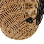 WeidenkorbWelt Panier à Chat en Osier avec Coussin | Taille S M L Marron Naturel | Grille Amovible en métal/Panier de Transport pour Chat | Panier de Transport pour Chien | Panier pour Chat