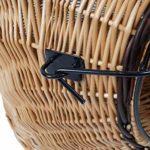 WeidenkorbWelt Panier à Chat en Osier Marron | Taille S M L XL | Grille en métal Amovible pour Le Transport pour Les Chats | Cage de Chat