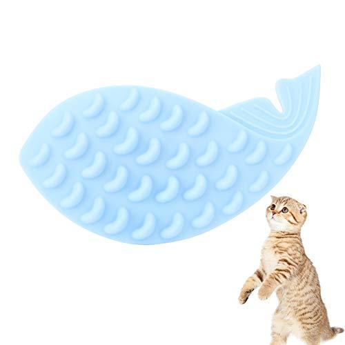 Brosse de Massage pour Chat en Silicone pour Animaux de Compagnie en Forme de Baleine sans Danger pour Les Rayures