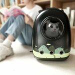 REW Sac à dos de voyage pour chat facile à installer, petit et léger, E