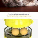 THUMBGEEK Spaß Tumbler Haustiere Slow Food Unterhaltung Spielzeug Die Aufmerksamkeit Der Katze Einstellbar Snack Mund Spielzeug Für Pet (Jaune)