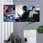 4L Distributeur Croquettes Chats Automatique avec LCD,Lecture vocale 10S et Minuterie Programmable pour Jusqu'à 4 Repas par Jour