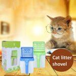 AKlamater Pelle à litière creuse pour chat avec outil de nettoyage pour litière (vert)