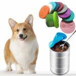 chifans Couvercle en silicone pour nourriture pour chien – Couvercle en silicone pour nourriture en boîte – Sécurité alimentaire pour chat – 6 pièces – Couleur aléatoire