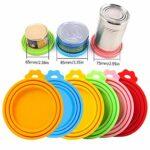 Chifans Lot de 6 couvercles en silicone pour nourriture pour chat et chien Sans BPA Réutilisable Couleur aléatoire
