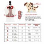 Harnais pour petit chat et chien avec nœud en maille rembourrée pour petits chiens (rouge)