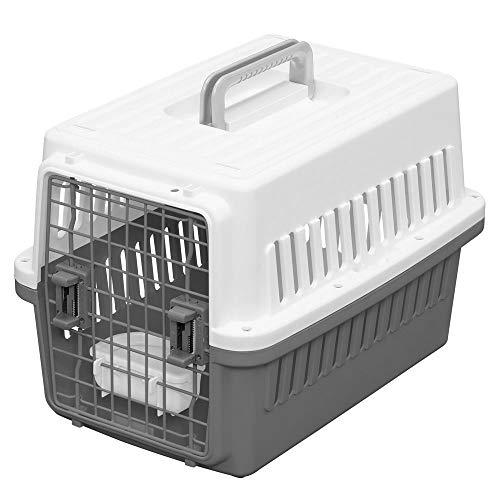 Iris Ohyama, Caisse de transport avec abreuvoir amovible pour chien et chat jusqu'à 12 kgs – Air Travel Pet Carrier – ATC-530 – 53 × 36 × 37 cm