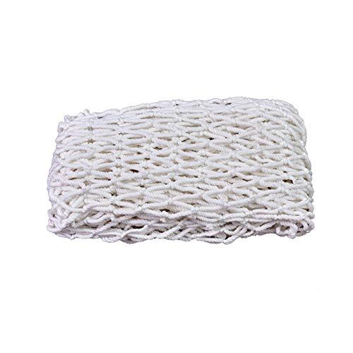 NIUFHW Filets De Clôture Balcon Anti-Chute Filet De Protection des Escaliers Filet Tissé Filet De Sécurité Isolé Taille De La Maille 6mm * 10cm Filet en Nylon Blanc(Size:2 * 3m/6.6 * 9.8ft)