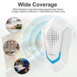 Nulaxy [NEU] combat ultrasonique ultrasonique 10W Plug-in-Ultrasonique pour les personnes et les animaux, pour souris, puces, moustiques, rongeurs, cafards, fourmis, araignées, blanc