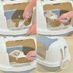 Pelle à litière pour chat de qualité supérieure – En polypropylène durable avec poignée confortable – Passoire rapide pour animaux de compagnie – Pelle à déjections (blanc/gris)