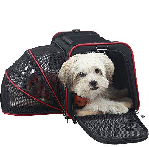 Petsfit Sac de transport extensible pliable lavable pour animal domestique 45,7 x 27,9 cm approuvé par les compagnies aériennes Noir