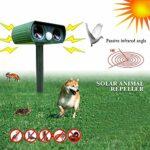 Répulsif à ultrasons à énergie solaire pour chat chat chat chien renard antiparasitaire étanche activé mouvement