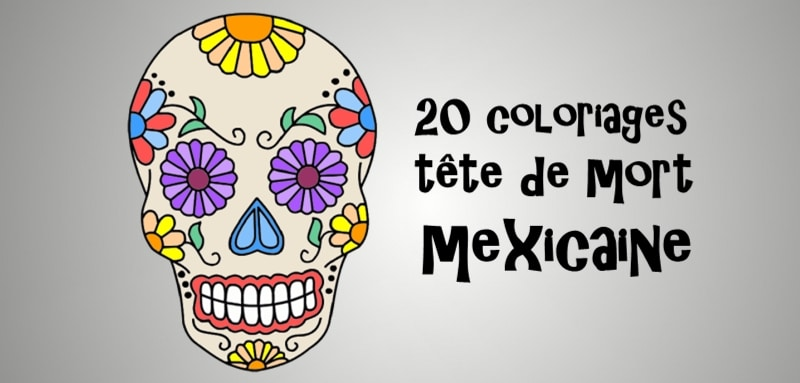 Coloriage Tte De Mort Mexicaine 20 Dessins Imprimer