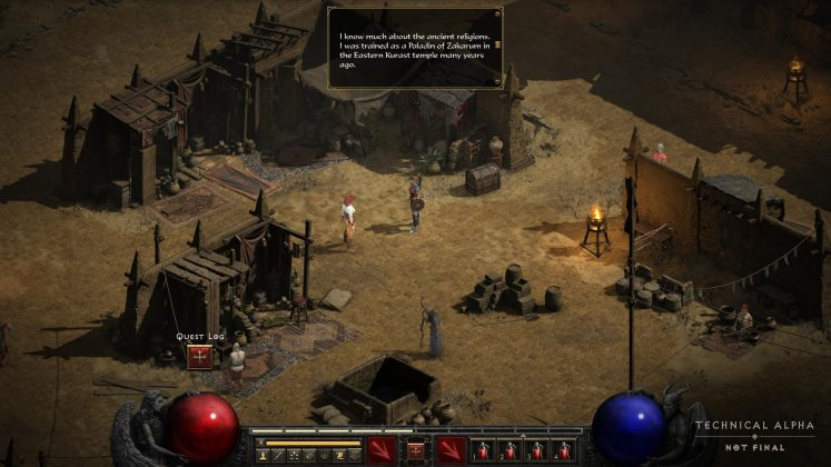 Diablo 2 Resurrected screenshot alpha test