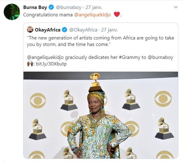 burna boy felicitations angelique kidjo jewanda 1