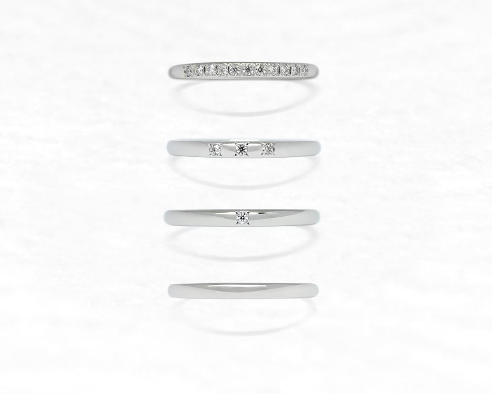ひな結婚指輪 十二単