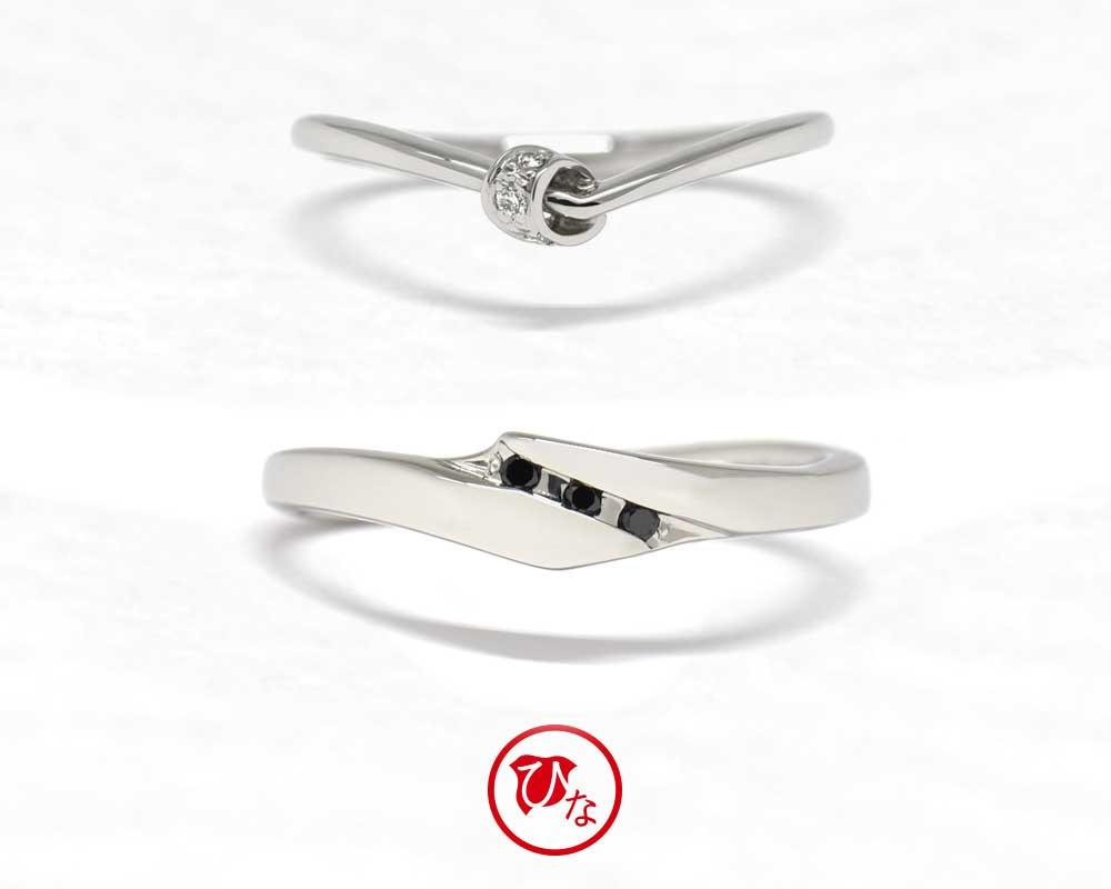 ひな結婚指輪 文つなぎ