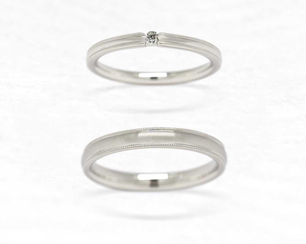 ひな結婚指輪 ふちかざり