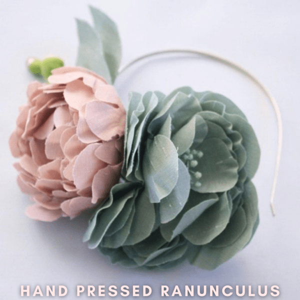 HOW TO MAKE HAND PRESSED SILK ROSES RANUBNCULUS