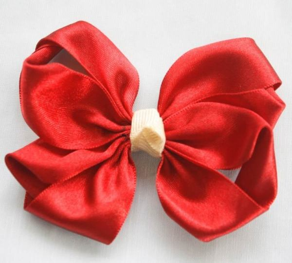 Looped Lucia Hair Bow Tutorian - Red