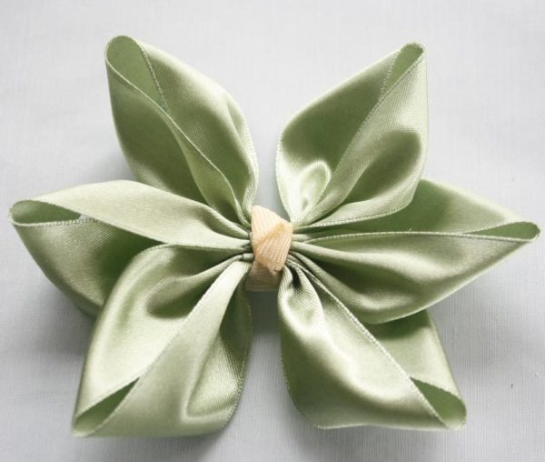 Pointed Ribbon Hair Bow for hair Clips