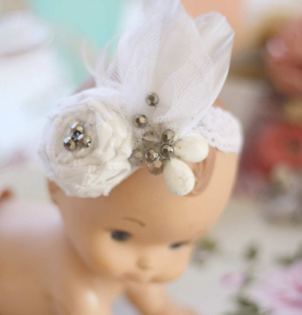 How to Make a Rolled Rose Fabric Flower Tutorial for Making Couture Baby Headbands