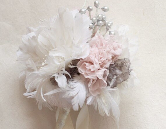 Feather flower and fabric flower tutorial by Jewel Box Ballerina
