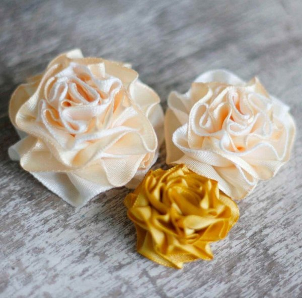 How to ribbon flowers tutorial Summer Amelie