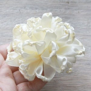 How to make a ribbon fabric flower with the Knotted Chrysanthemum Tutorial