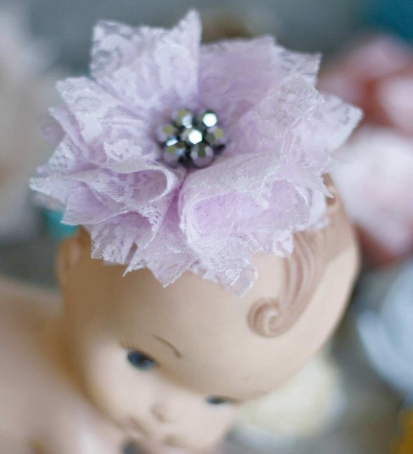Baby Fabric Flower Clip using the Carnation Tutorial