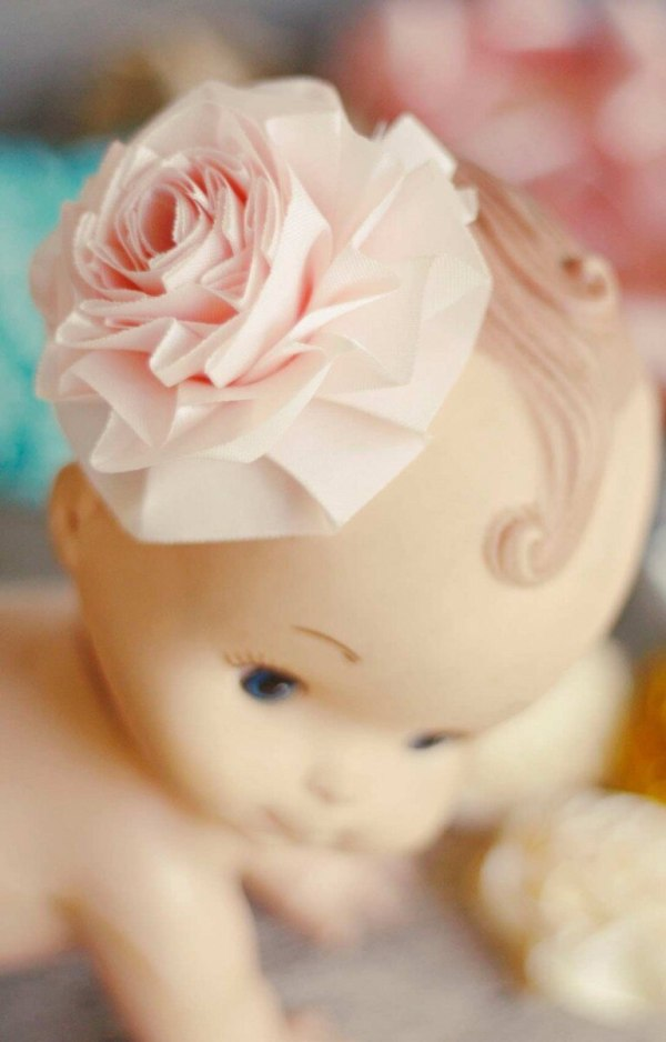 summer amelie fabric flower tutorial for making baby hair clips