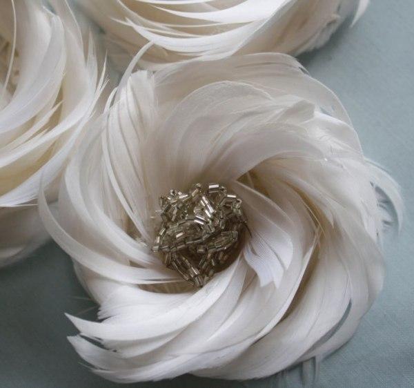 How to make feather flowers for diy wedding fascinators | Arabella Rose Tutorial