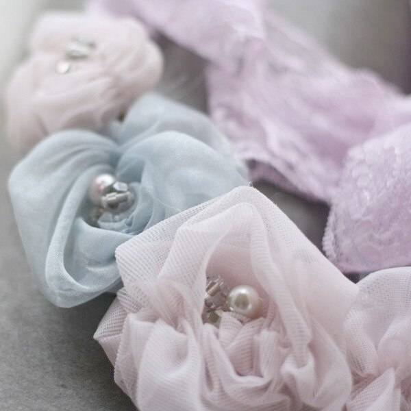 Romantic Style Fabric Flowers | Ruched Rosette