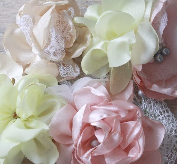 How to make a Layered Cabbage Rose Fabric flower Tutorials for DIY Wedding Decor